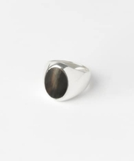 on the sunny side Horn Signet Ring