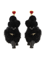 【77th】BLACK POODLE EARRING