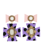 【Badacious】Dreamy Violet Earrings