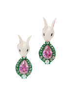 【77th】Bunny baroqu earrings mini